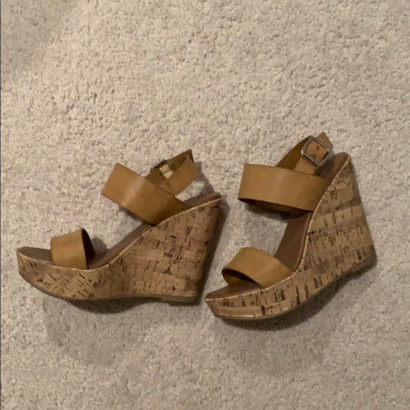 Mossimo Supply Co. Shoes - Nude wedge sandals
